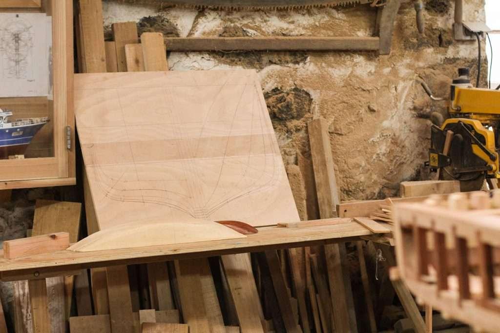wooden boat maket